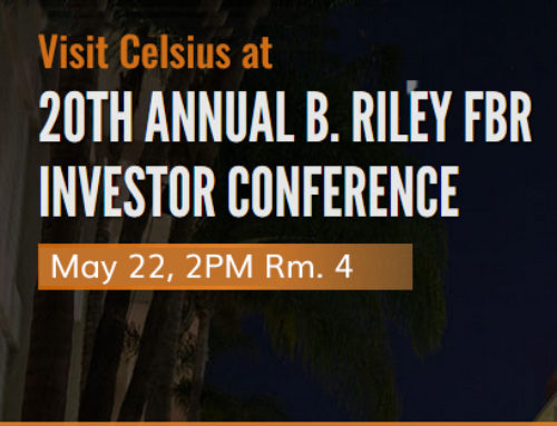 Celsius Holdings, Inc. to Present at the 20th Annual B. Riley FBR Institutional Investor Conference on May 22, 2019